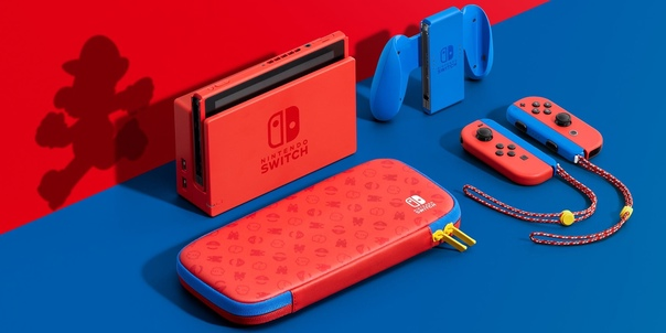 В честь выхода Super Mario 3D World + Bowser's Fury компания Nintendo выпустит Switch в расцветке Mario Red and Blue Edition.